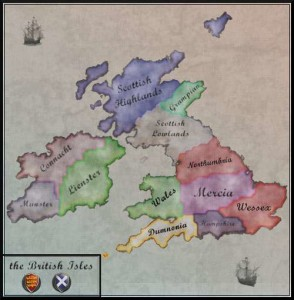 The British Isles of Medieval Total War 2