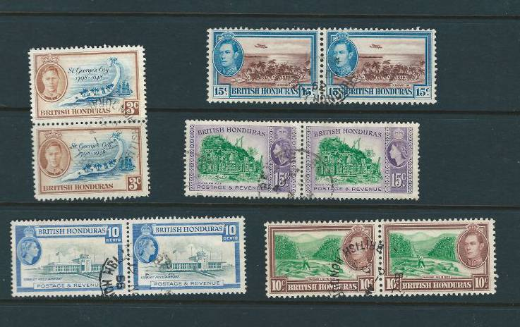 Stamps for Sale or Trade | British Honduras Scott #120,#121,#132,#149 & #150