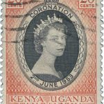 Queen Elizabeth Kenya Uganda Tanganyika 1953 Coronation Issue