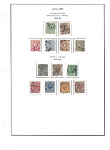 Late 19th Century German Stamps
