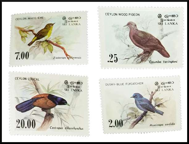 Sri Lanka #691-694 MNH Birds of Sri Lanka 1983