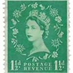 Queen Elizabeth II 1 and a half pence