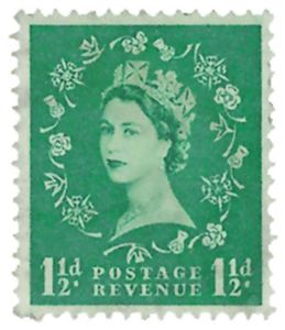 Downloadable Custom Stamp Album Page-The Queen Elizabeth II 1952-1959 Series