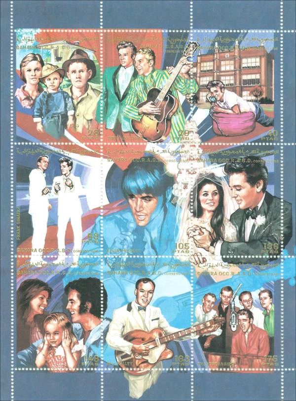 Elvis Presley Souvenir Sheet from Spanish Sahara