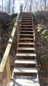 Stairs at Mary Ann Brown Preserve Hiking Trail