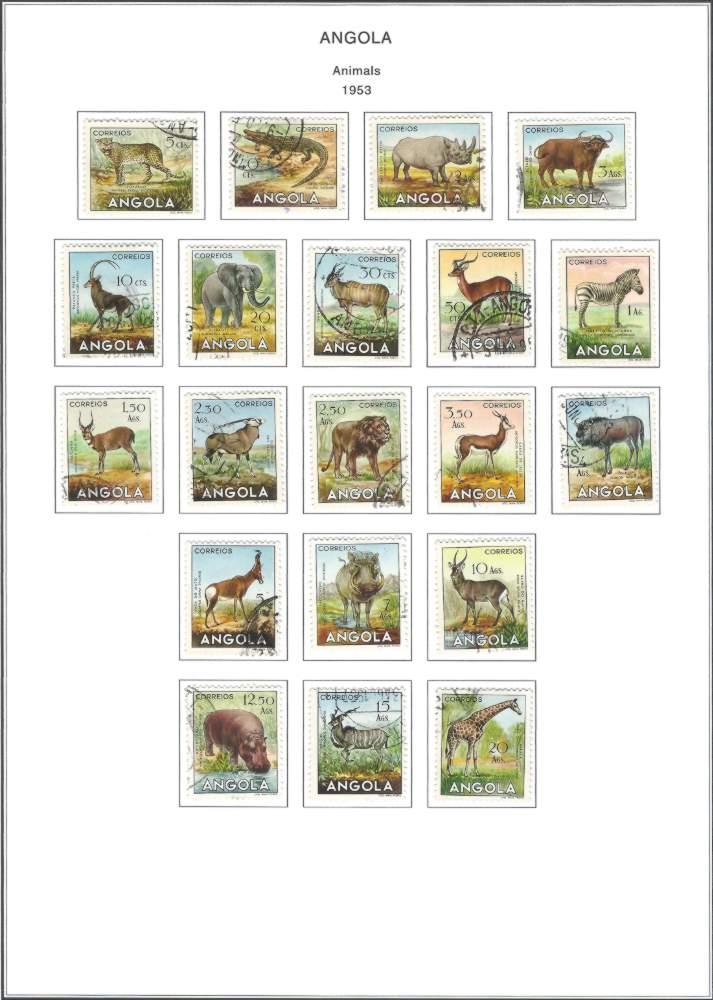 Angola 1953 Animal Series