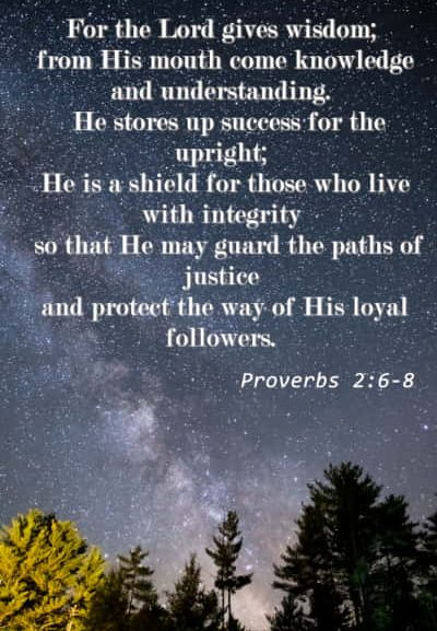 Proverbs 2: 6-8 | The Lord Gives Wisdom