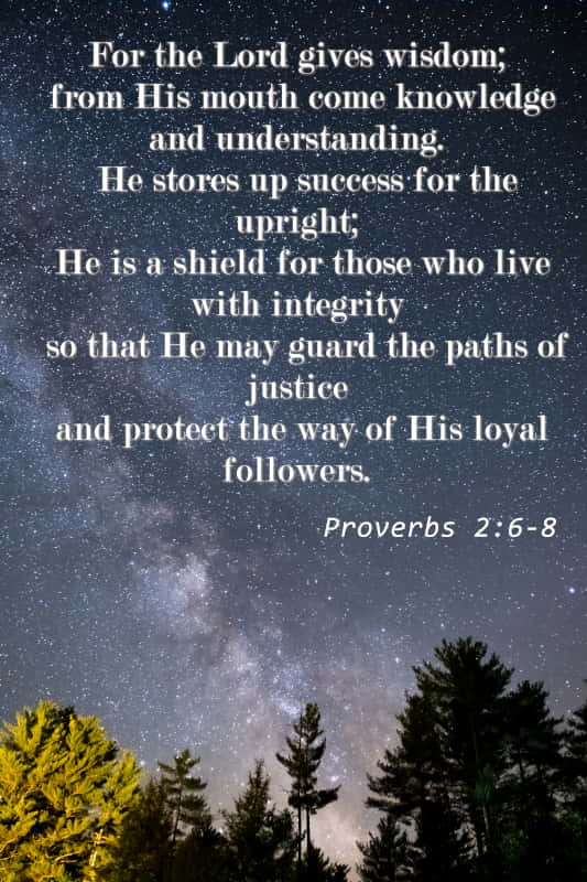 Proverbs 2:6-8   For the Lord Gives Wisdom